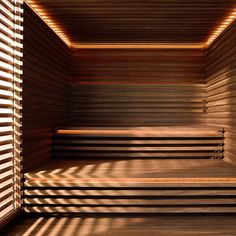 The unique, striking appearance of the MATTEO THUN Sauna is dominated by the interplay between the timber strips and gaps. Sauna Heater, Sauna Design, Bathroom Design Inspiration, Design Ideas, Indirect Lighting, Side Wall, Design Language, Childproofing, Simple Shapes