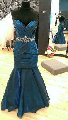 """Long """"Ocean"""" Prom Dress"""
