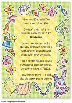 Birthday party invitations wording new invitations pinterest you can download the free printable birthday party invitation template form customize it according to stopboris Gallery