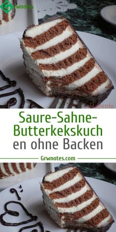 Sour-cream-butter biscuit cake without baking German Desserts, Fun Desserts, Short Bread, Funny Cake, Biscuit Cake, My Dessert, Party Snacks, Cupcake Cookies, Cakes And More
