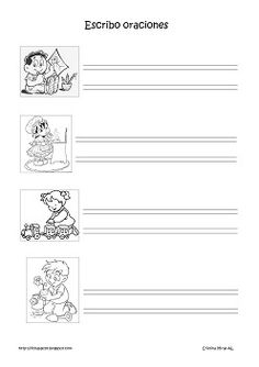 Cositas de AL y PT: Lectoescritura 1st Grade Writing, Tracing Letters, Spanish Language Learning, Dual Language, Writer Workshop, First Grade, Speech Therapy, Special Education, Worksheets