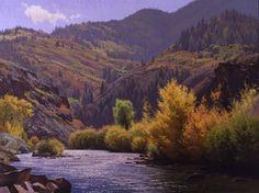 Indian Summer, Frying Pan River landscape giclee | Jay Moore Studio | Jay Moore Studio