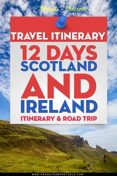 Perhaps our favorite road trips of all time have been our adventures driving around Ireland and experiencing the beauty of Scotland.  It's tough for many people to get more than a couple weeks off work for vacation, as it was for us!  So here is a copy of our 12 day Scotland and Ireland itinerary.