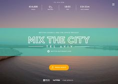 Mix the City | CSS Website