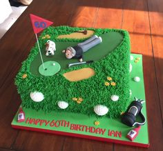 Golf cake golf cake pops ideas (This is an affiliate link) Continuously the item at the photo link. Funny 50th Birthday Cakes, Golf Birthday Cakes, Happy 60th Birthday, Bithday Cake, Dad Birthday, Birthday Ideas, Golf Themed Cakes, Golf Cakes, Golf Party Foods