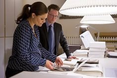 Crown Princess Victoria of Sweden visited The Bernadotte Library at the Royal Palace. The Bernadotte Library contains the royal book collection. The collection consists of approximately 100,000 books that have belonged to the Bernadotte kings and queens throughout the ages. Feb. 2016