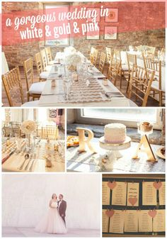 Gorgeous gold ivory and pink wedding decor (with full how-to tips and sources!) - via the sweetest digs