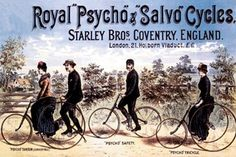 vintage bicycle art prints royal psycho and salvo cycles fine