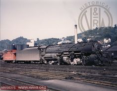 N&W Y6b #2190 Right Side 3/4 View at Bluefield, WV