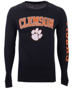 ad49b5ae Colosseum Men's Clemson Tigers Midsize Slogan Long Sleeve T-Shirt - Black L