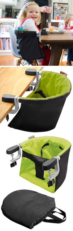 Clip on high chair // simple clamp on action and easily portable #product_design