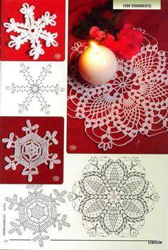 "Photo from album ""Снежинки"" on Yandex. Crochet Snowflake Pattern, Crochet Stars, Crochet Snowflakes, Crochet Mandala, Christmas Snowflakes, Thread Crochet, Crochet Motif, Diy Crochet, Crochet Doilies"