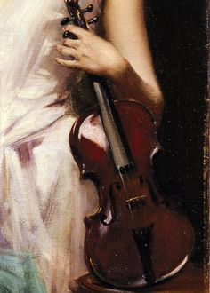 sollertias:  The Sonata by Irving Ramsey Wiles, 1889 (detail)