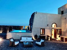 Mansion Kyani with private pool in Megalochori, 3 bedrooms, 3 bathrooms, sleeps 6.
