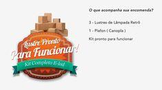 Kit 3 Lustre No Formato De Lâmpada Pendente De Madeira A Led - R$ 229,99 em…