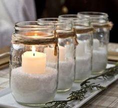 Navidades Low Cost: Adornos Navideños con Tarros de Cristal.                                                                                                                                                      Más