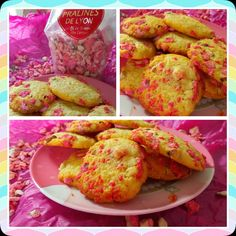 Mes cookies à la praline rose...miam miam