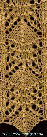 Lace Border 1 - Knittingfool Stitch Detail