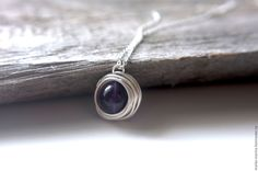 Купить Кулон в серебре с аметистом - фиолетовый, кулон из аметиста, аметисты, аметист в серебре, кулон в серебре
