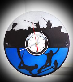 "Wall clock ""Underwater hunting""."