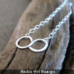 Sterling Silber Unendlichkeit Symbol Halskette von NadinArtDesign auf DaWanda.com