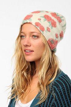 Coal Josie Floral Beanie Hat