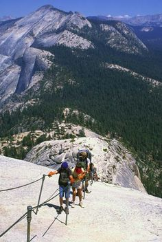 400 ft Half Dome cable hike.. Going to be the best more brutal experience of our lives!