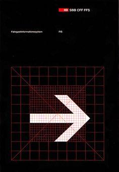 SBB CFF FFS, Swiss Railways identity guidelines by Josef Müller-Brockmann, 1978 Branding And Packaging, Branding Design, Logo Design, International Typographic Style, Swiss Railways, Swiss Design, Composition, Wayfinding Signage, Design System