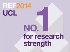 UCL rated 1st in UK for Research Impact in Research Excellence Framework (REF) 2014 https://soamp.li/l8s  #tbt