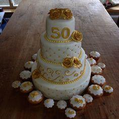 Bruidstaart 50 jaar getrouwd
