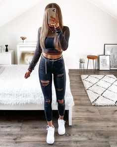 Trendy Boy Outfits, Swag Outfits For Girls, Cute Lazy Outfits, Teenage Girl Outfits, Teen Fashion Outfits, Teenager Outfits, Pretty Outfits, Clueless Outfits, Looks Jeans