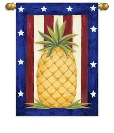 Patriotic Red White Blue Pinele Garden Flag Banner By Flagcenter 11 88 Rox