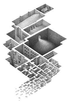 Negative Space Illustrations by Matthew Borett