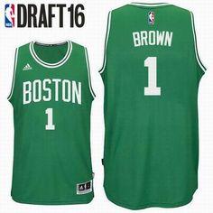 2016 Draft Pick Boston Celtics  1 Jaylen Brown Road Green Swingman Jersey 4d5e9d34d
