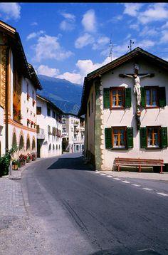 A street of Glurns, Trentino-Alto Adige, Italy