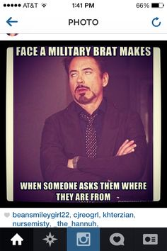 Support the Military brat during #MilitaryFamilyAppreciation Month