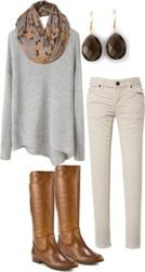 Love the winter white, boots