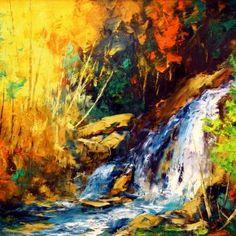 J'écoute son chant par Michel Pleau 30 x 40 / Huile sur toile  #Art #Landscape #Paysage #Quebec #color #colors #Artist #Artiste #Artwork #OldQuebec #VieuxQuebec #Nature Chant, Michel, Land Scape, Paintings, Gallery, Nature, Artwork, Figurative Art, Paint