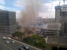 """""""Bad day in Barangaroo Lend Lease, Times Square, Fire, Twitter, Travel, Viajes, Trips, Traveling, Tourism"""