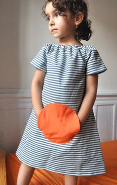 Magical pocket dress  Summer style 0/6m to 6T by ManiMina on Etsy, $22.00