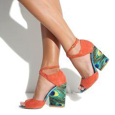 """June Ambrose for theme® """"Eden"""" Block Heel Suede Sandal at HSN.com #shoes"""