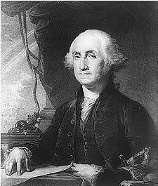 SEPT. 19, 1796:  Pres. George Washington's Farewell Address was published in the American Daily Advertiser.   image: George Washington, first president of the United States