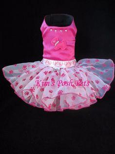 J.C. Paws Dog Dress XS  _ Dog Tutu _ #HandMadebyKim _ Kim's Posh Pets - facebook