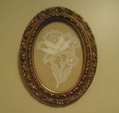 Ideas To Preserve Wedding Dress- Piece of wedding lace as art- love this!