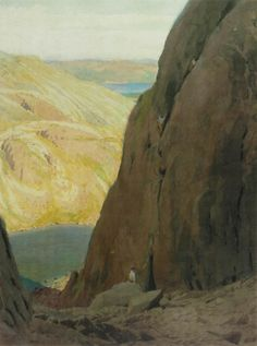 Climbers in Easter Gully (framed print) | Framed prints by William Heaton Cooper | Prints of paintings by William Heaton Cooper | Fine Art Prints | FINE ART GALLERY | Home | Heaton Cooper Studio