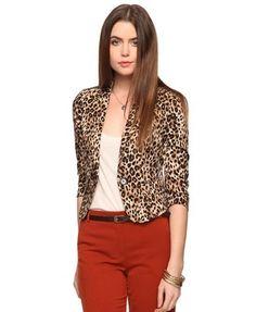 Leopard Print Blazer - StyleSays