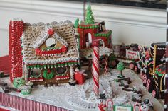 gingerbread train and station
