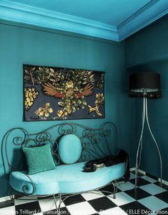 Un plafond turquoise chez Stella Cadente