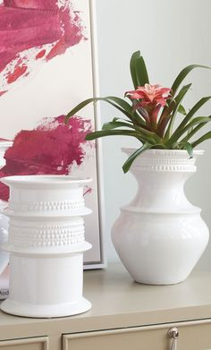 The ceramic shimmer of our Lillie Cylinder Vase adds a playful sense of light to any room. With classic sculpted lines, the styling options are endless. We kinda love it for the centerpiece of a Valentine's Day fete...
