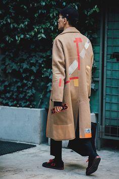 Street style Fashion Week homme automne hiver 2017 2018 de Milan 20
